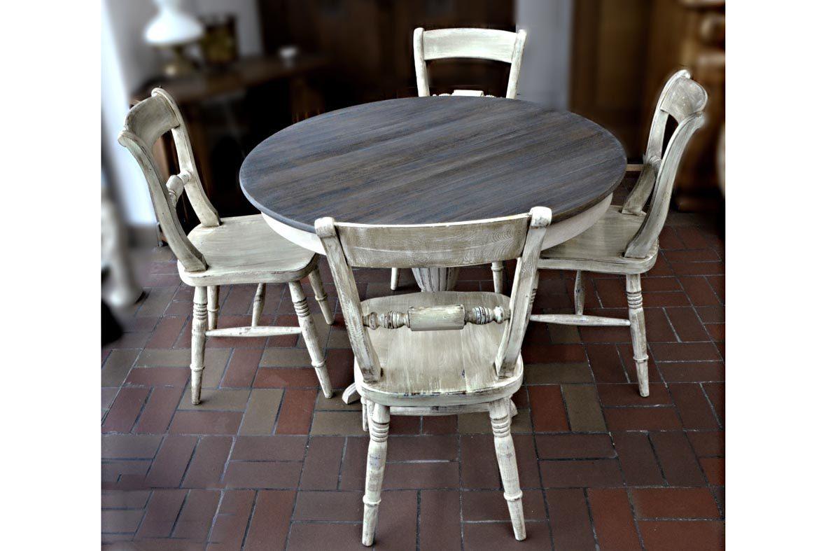 kringloop-limburg, gepimpte meubelen, brocante meubelen, gepimpte eettafel, gepimpte eetkamer stoelen,